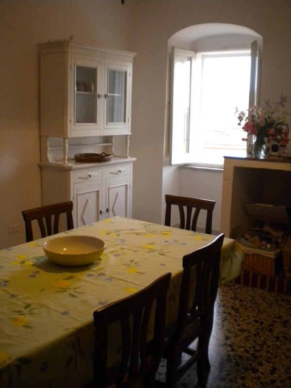 The large kitchen is the heart of the house