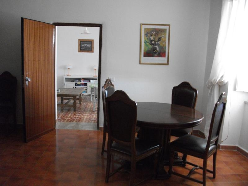 Dining room looking through to sitting room