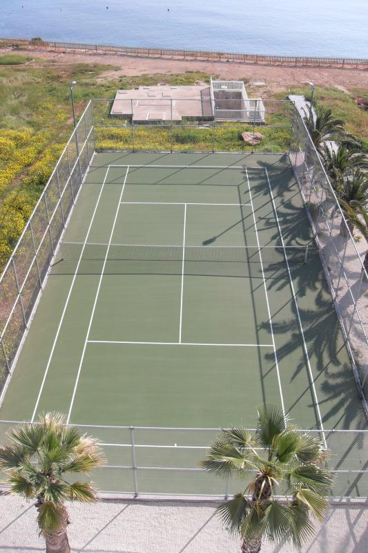 Tennis Court by the sea