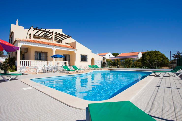 View of villa from the swimming pool