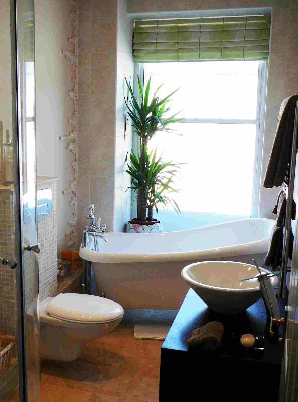 Bain de pantoufle et douche dans l'appartement de clair de lune, Durham