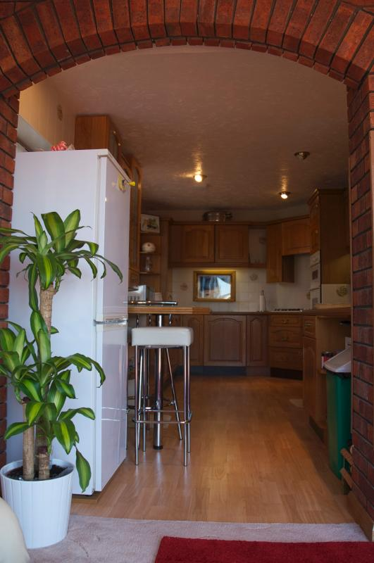 Fully equipped spacious kitchen.