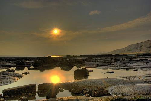 End your day and watch the sunset at Ovingdean beach.