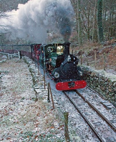 The steam train from Porthmadog to Blaenau Ffestiniog