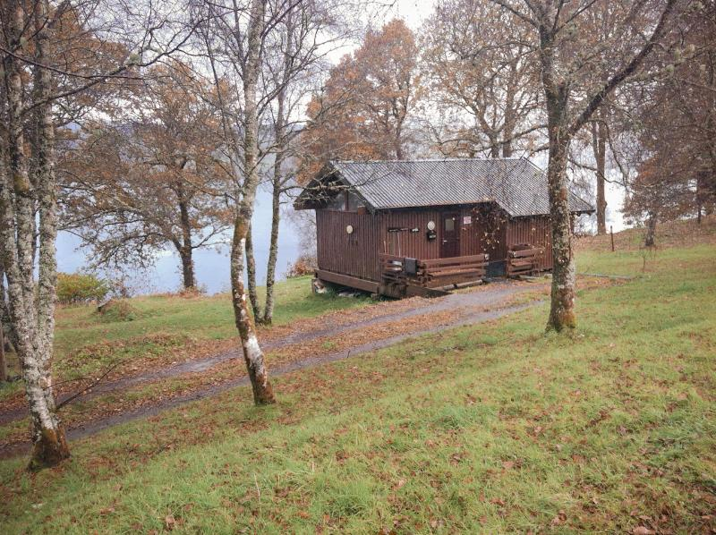 The cabin overlooking Loch Awe, in a beautiful secluded location.