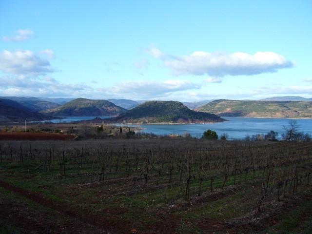 Winter view of Lake Salagou