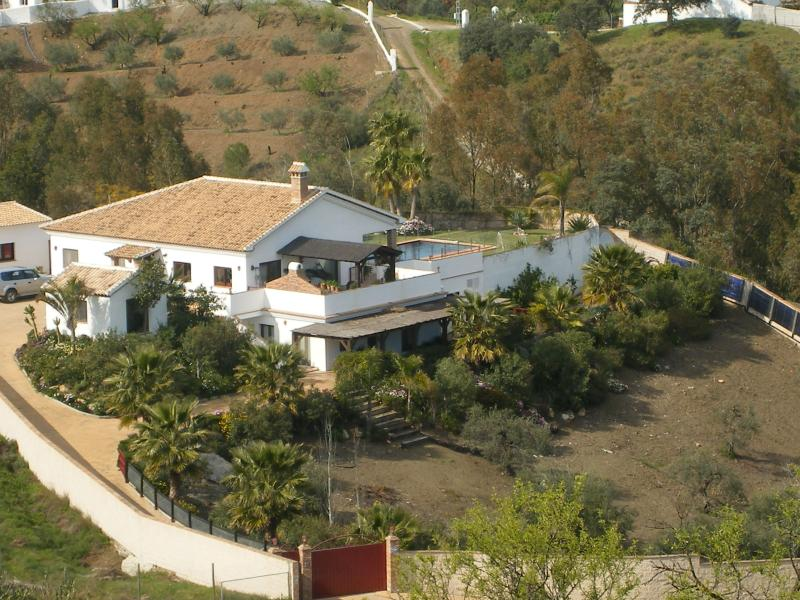Arial image of house