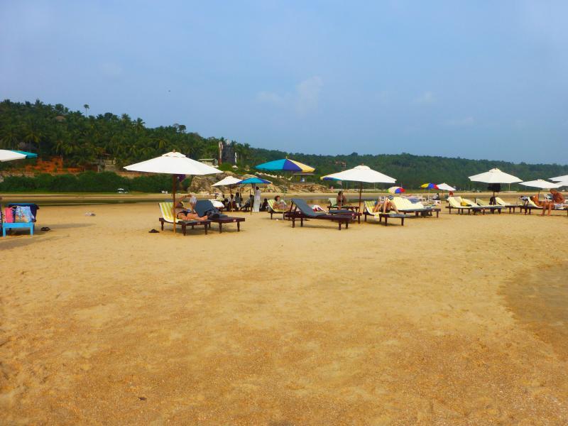 Somatherum Beach,20 mins away in a rickshaw,fabulous beach !