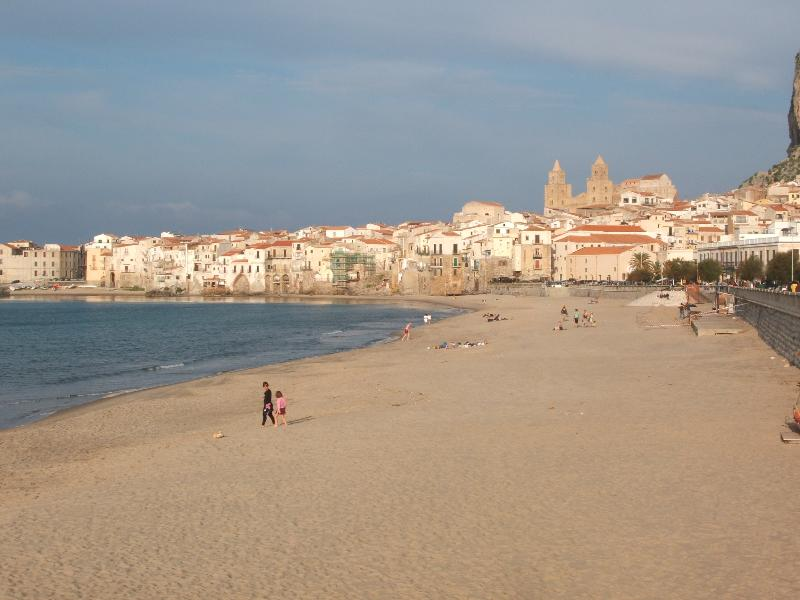 Cefalù old town and beach