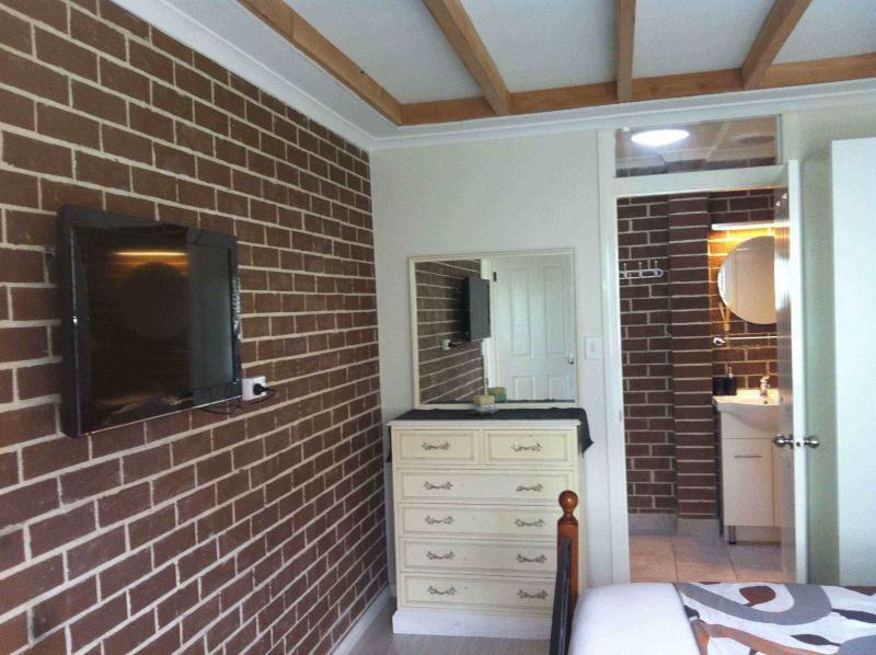 Nice double bedroom with flat screen tv