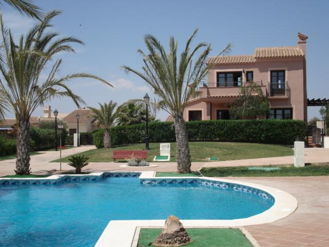 The share pool from the back garden of the villa