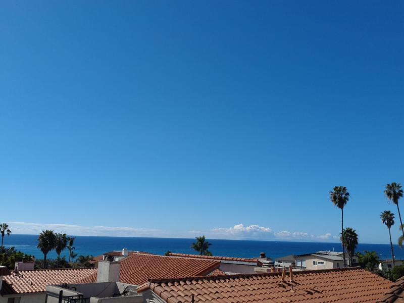 Ocean view from deck of home