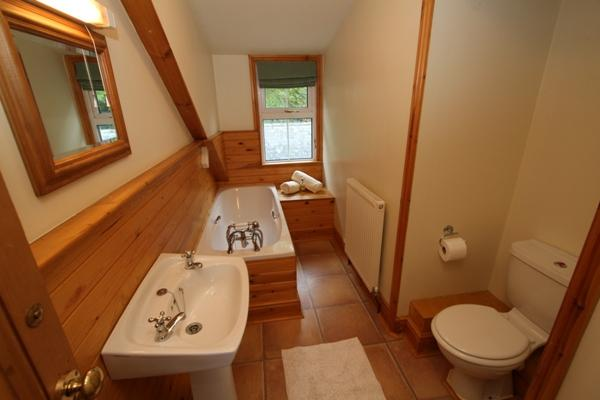 One of the 5 bathrooms at Godre'r Graig