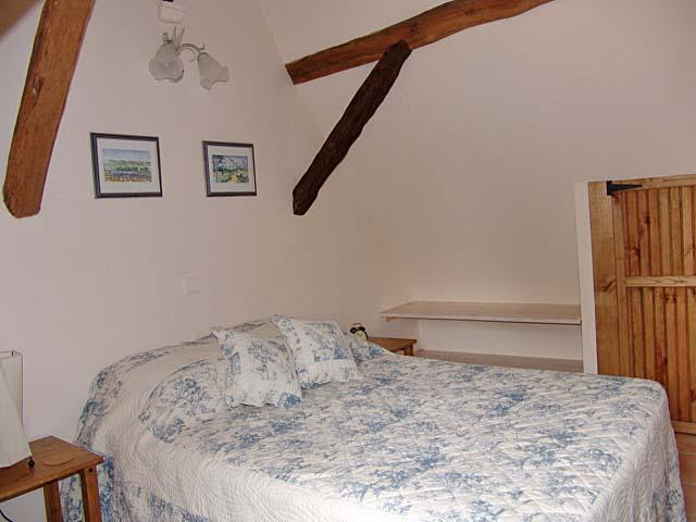 Eines der gemütlichen Schlafzimmer