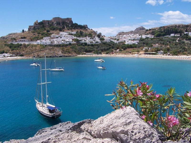 Beautiful Lindos, just 5km away, 5 minutes by car
