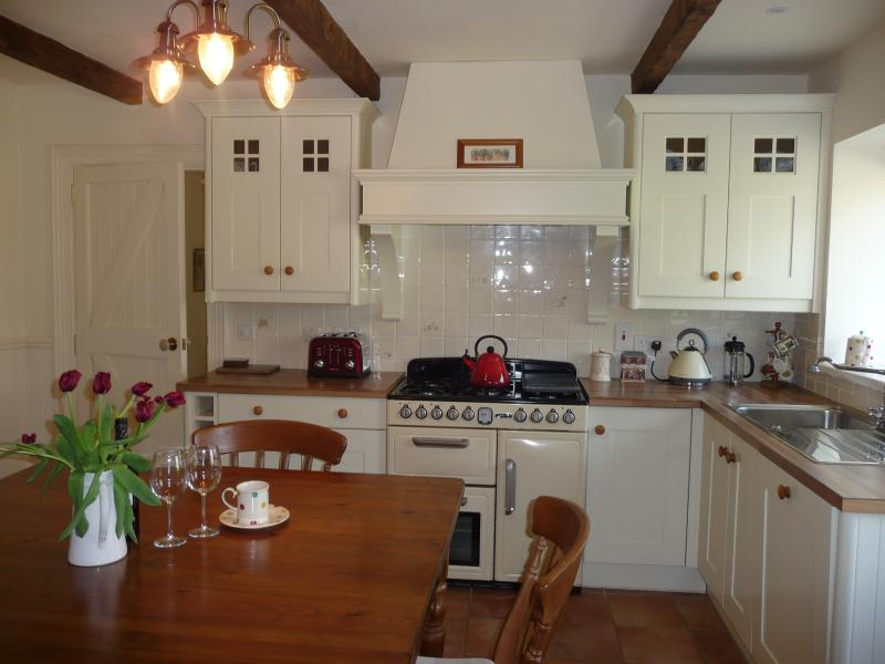 Kitchen with large range cooker