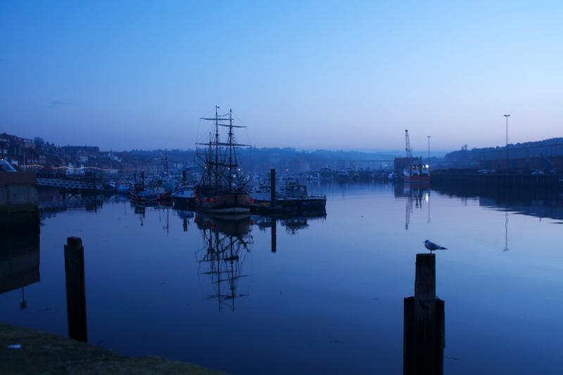 The stunning harbour view...at dusk