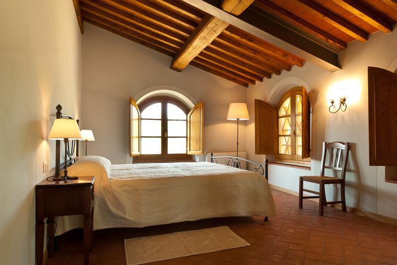 Spacious bedroom 1 with nice views