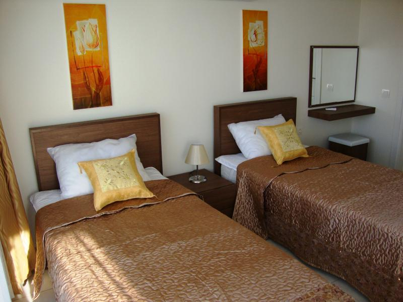 View of the twin bedded room