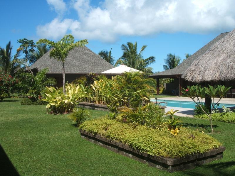 & Trädgård med pool