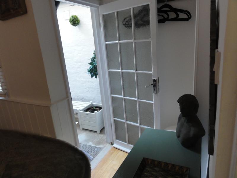 Courtyard through Bedroom 4 - Ground floor