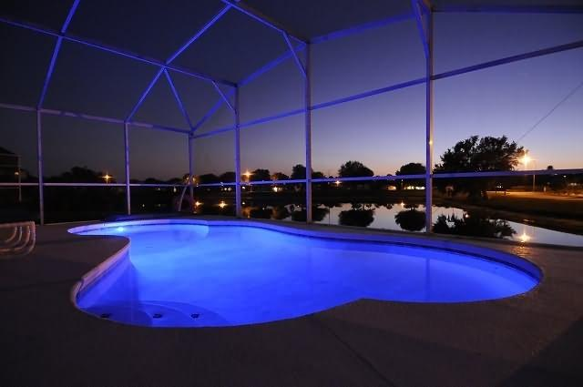 Pool lighting, static or changing