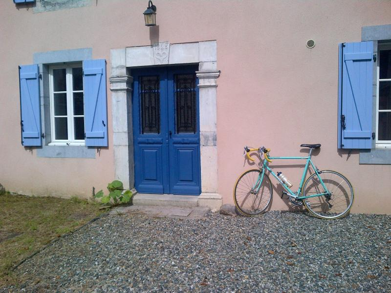 Front door, the start of hundreds of cycling or walking trips in the Pyrenees