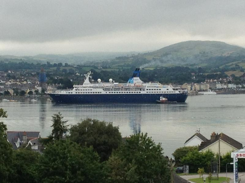 Passing Cruise Ship seen from the lounge on 19.07.2014