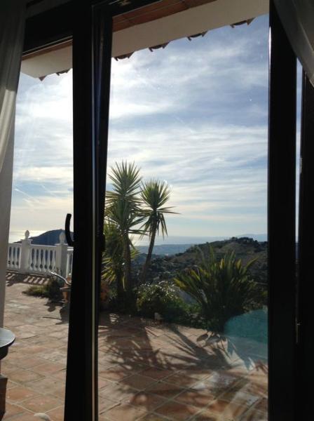 View from Mediterranean bedroom