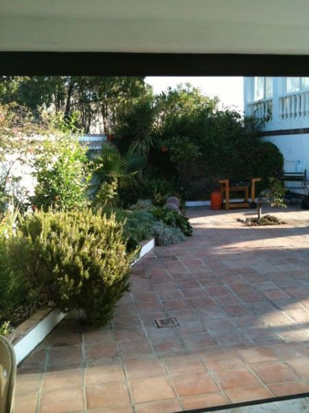 The B B Q Area and garden