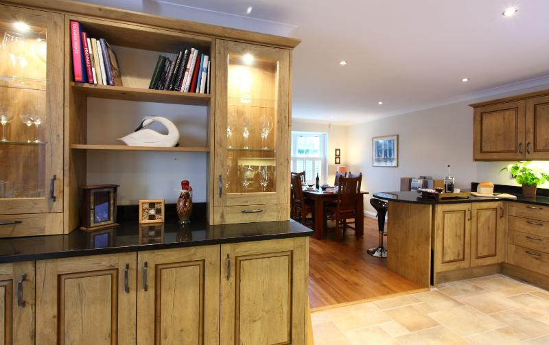 Open plan kitchen and dining area - large and spacious