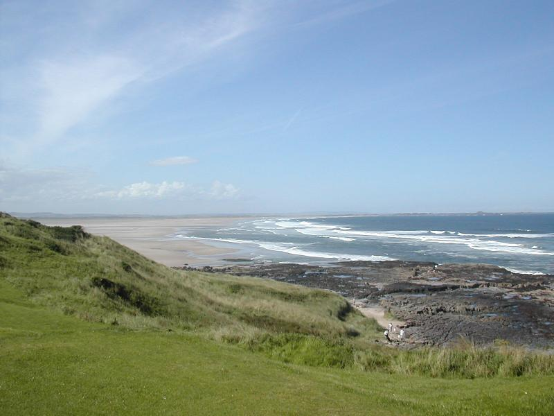 The Northumberland coast,  milesand miles of golden sandy beaches