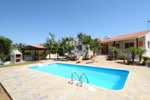 The villa- ample space and privacy with great views