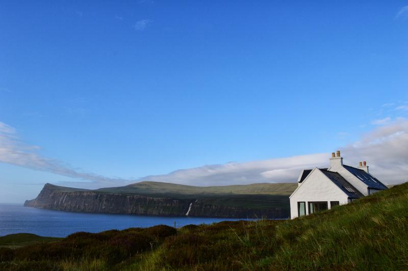 Blue Sea Cottage, Lower Milovaig, has superb views over Loch Pooltiel.