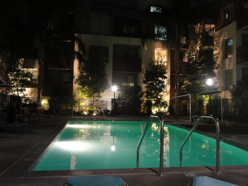 Pool area during night