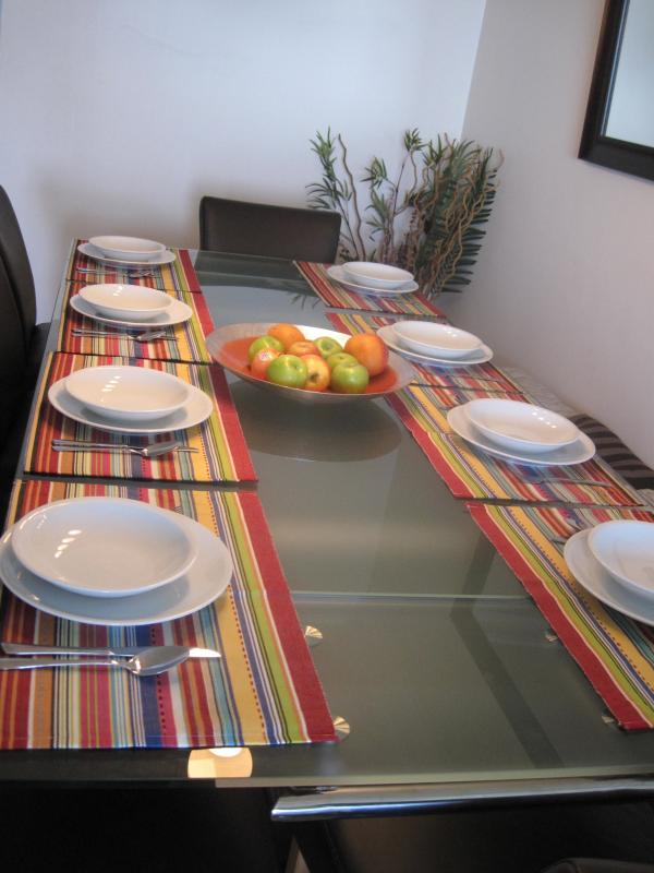 dining arranged for 8, 12 possible