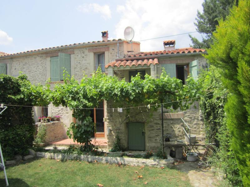 traditional village house with private walled garden
