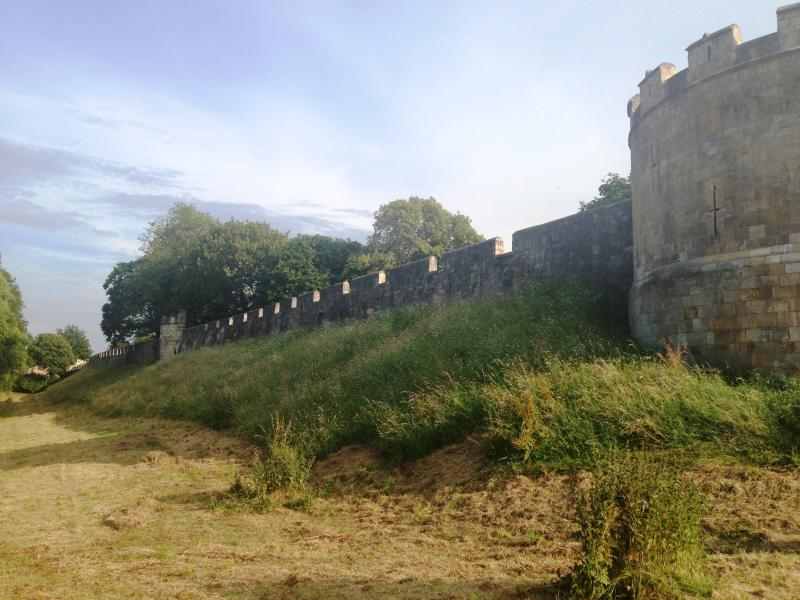 View of the roman walls from Lord Mayors Walk, 2 minutes from the cottage