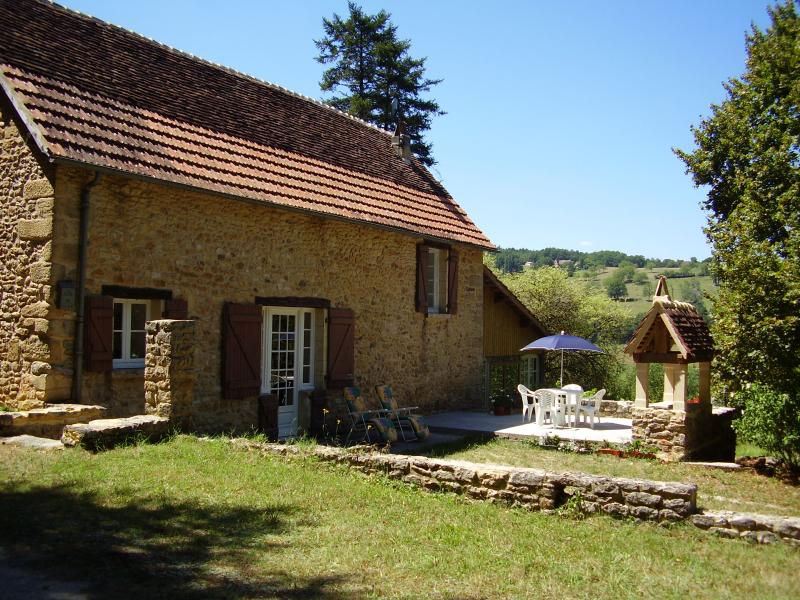 Patio area of Maison d'Amis