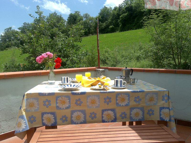 Breakfast on the large veranda