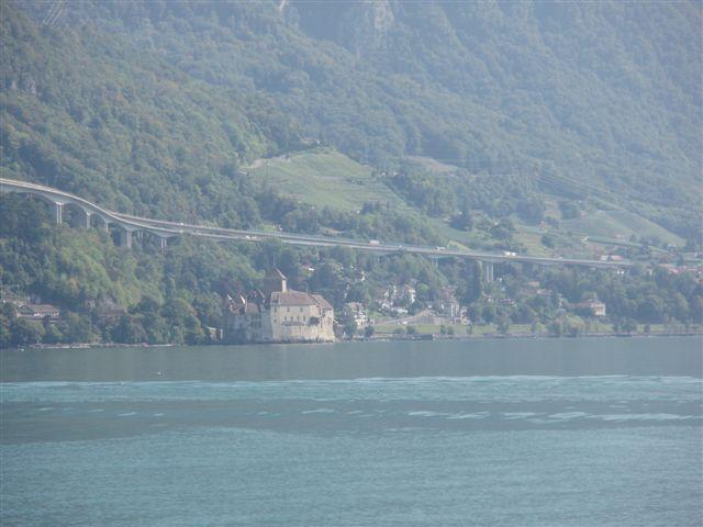 Chateux Chillon across Lake Geneva