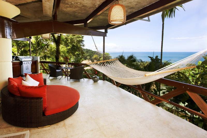 Relax in a hammock or oversized chair overlooking the Pacific Ocean