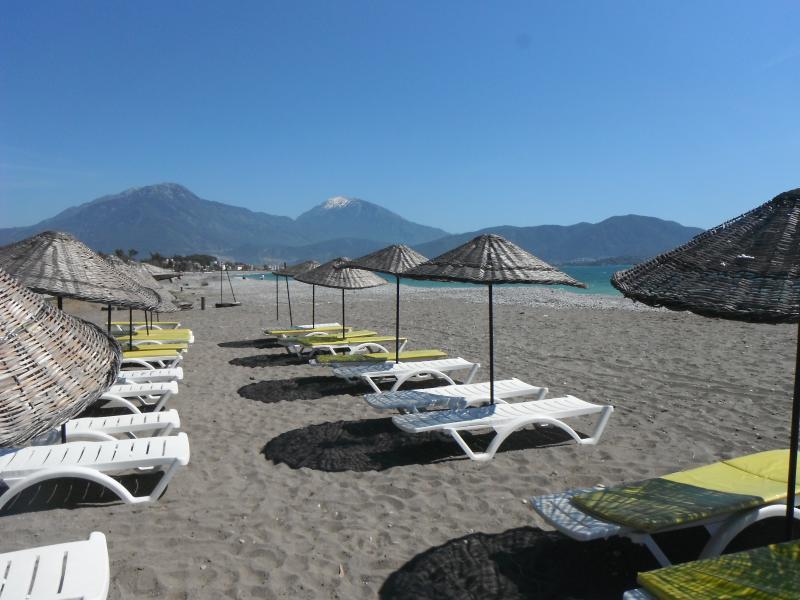 beautiful private sandy beach