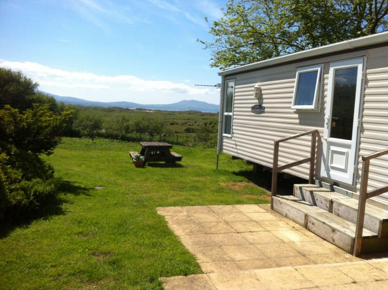 Views of Snowdonia from the private secure garden