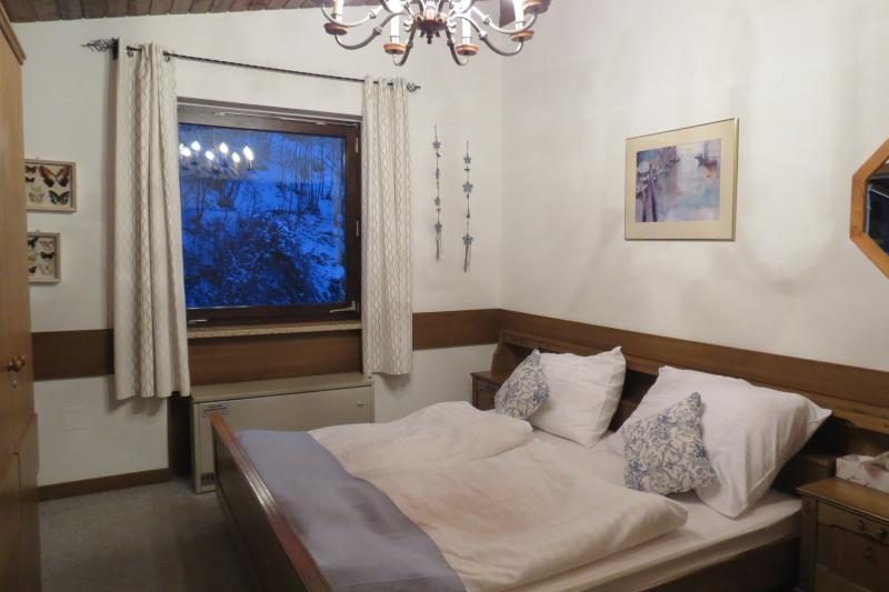 Main bedroom . very comfortable double bed, bedside tables and 2 wardrobes