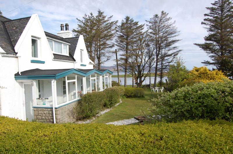 Waterside Cottage with the sea beyond