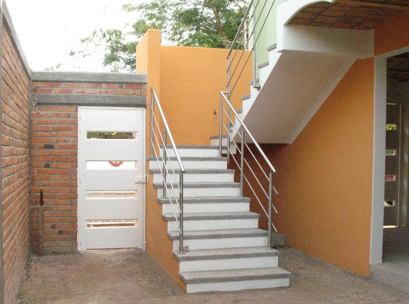 Stairs to the entrance of the house