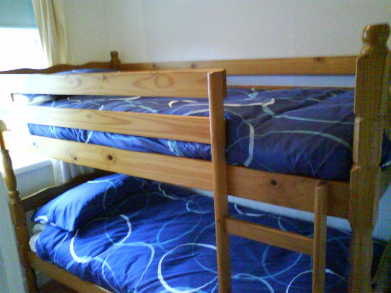 Full size bunkbeds in second bedroom
