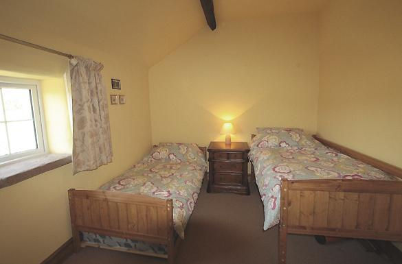 Twin room with toy box and trundle for 3rd child - bedding provided