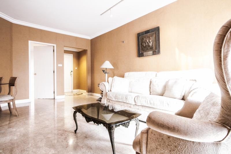 Ruimtelijke en stijlvolle wonen kamer